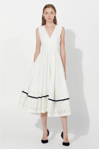 Lola Belted Broderie Dress
