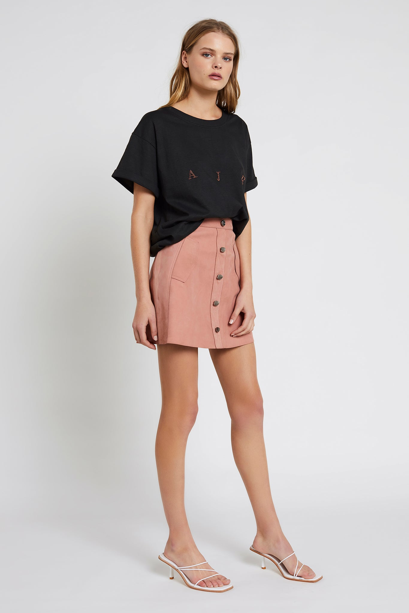 Marina Leather Mini Skirt Product View
