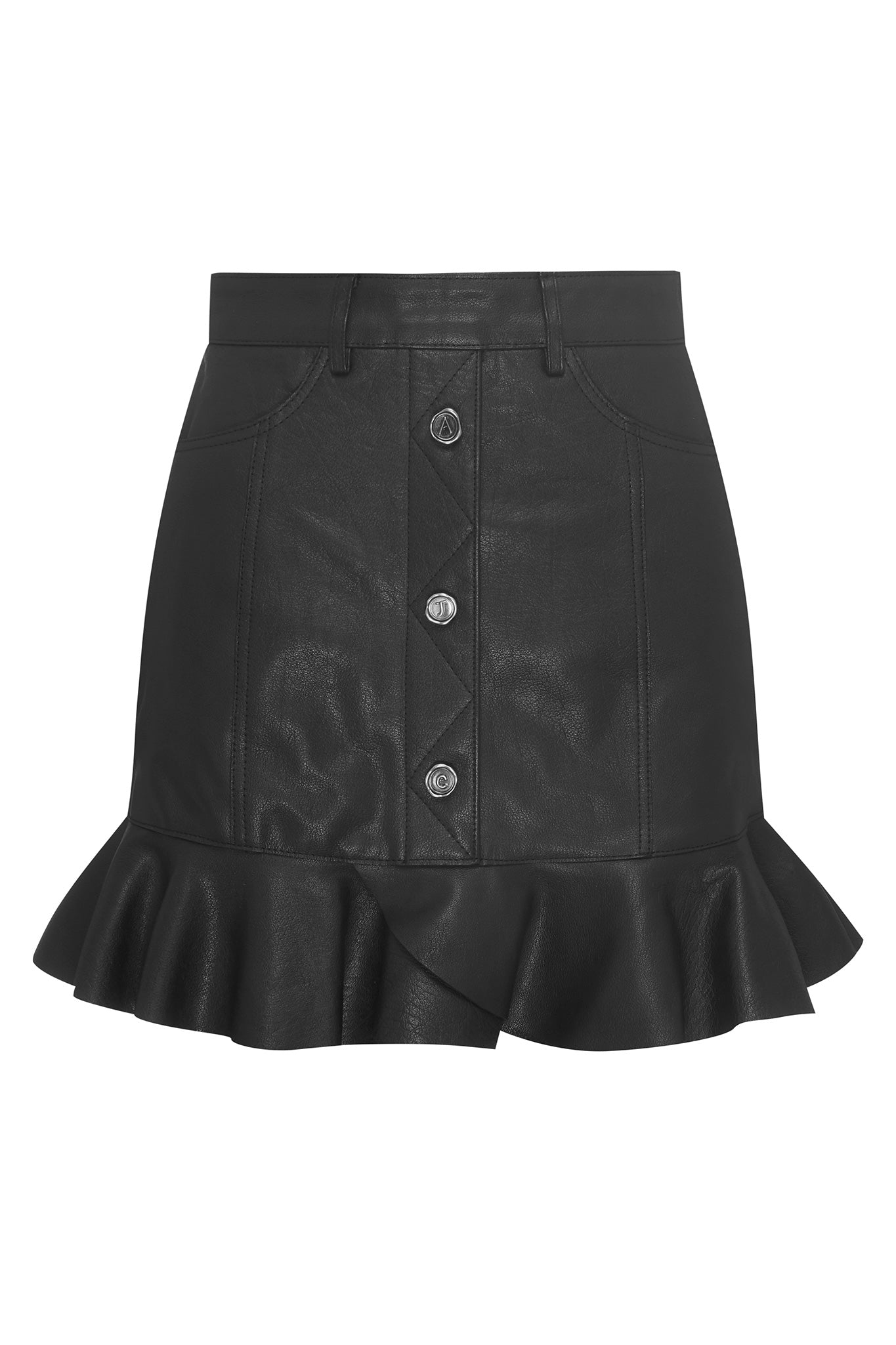 Nora Leather Mini Skirt Product View