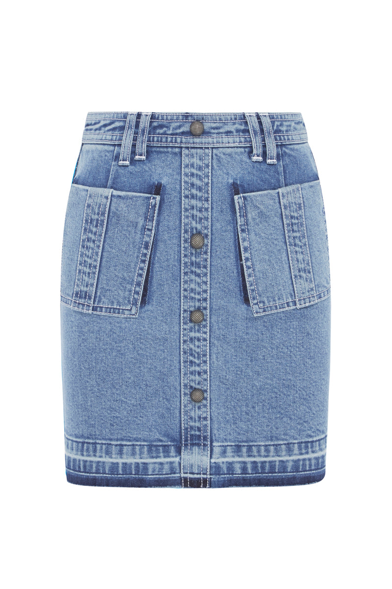 Paloma Denim Mini Skirt Product View