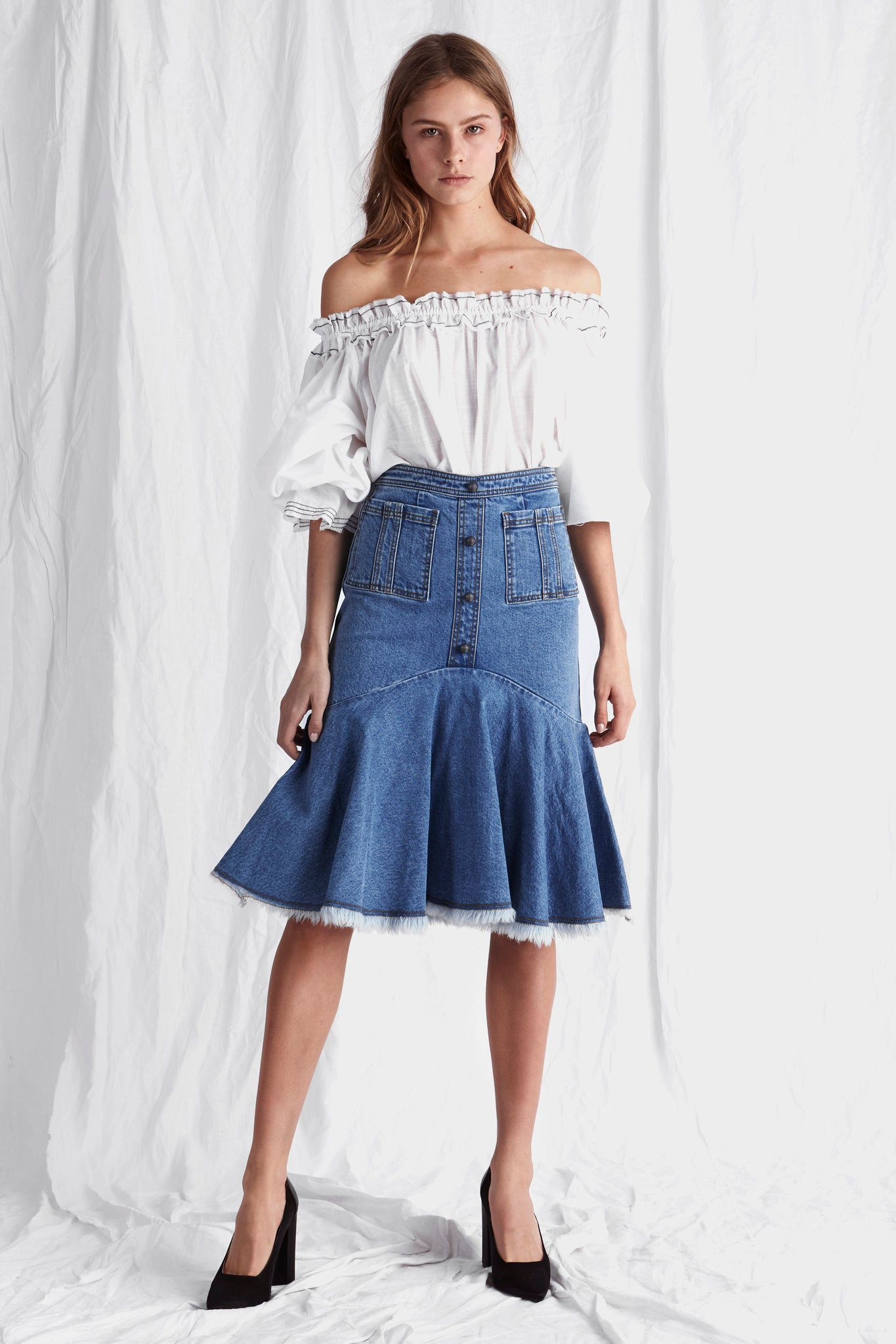 Phelps Midi Skirt Outfit View