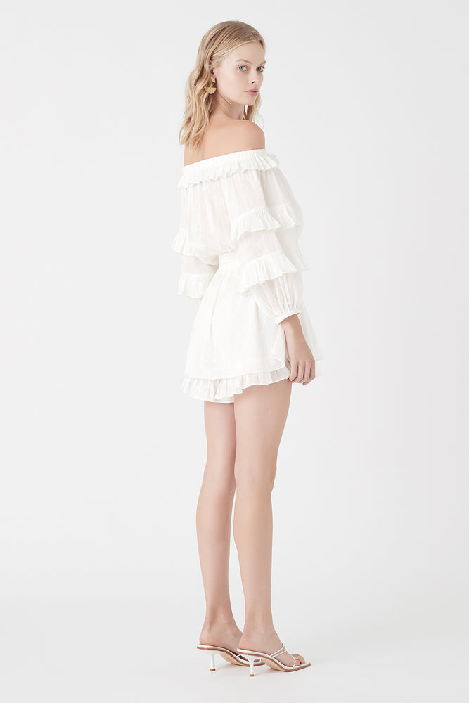 Salt Lake Frill Playsuit