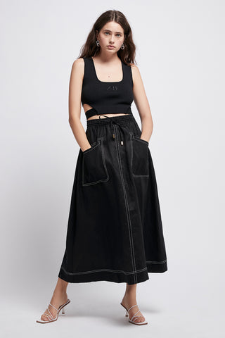Armeria Pocket Midi Skirt