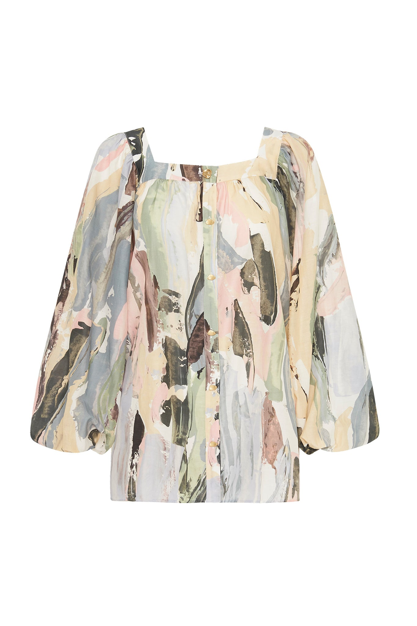 Paperbark Square Neck Blouse Product View