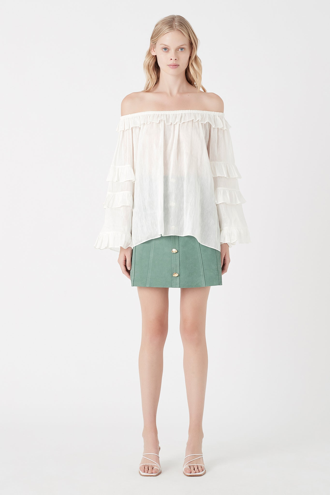 Salt Lake Frill Blouse Outfit View