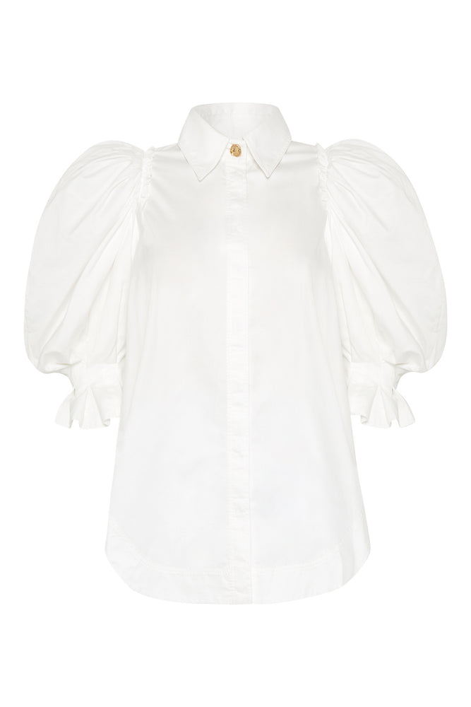 Eucalypt Puff Sleeve Shirt