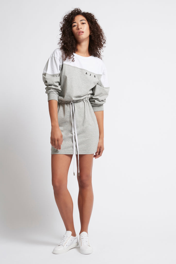 Rebellion Splice Logo Dress