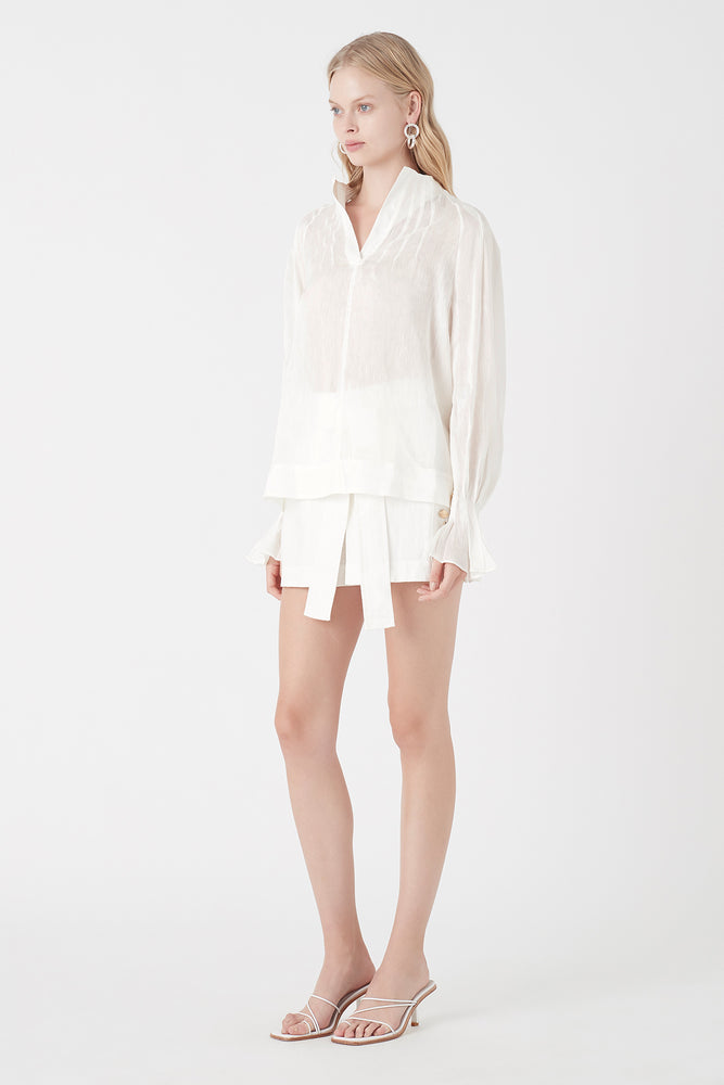 Salt Lake Tuck Blouse
