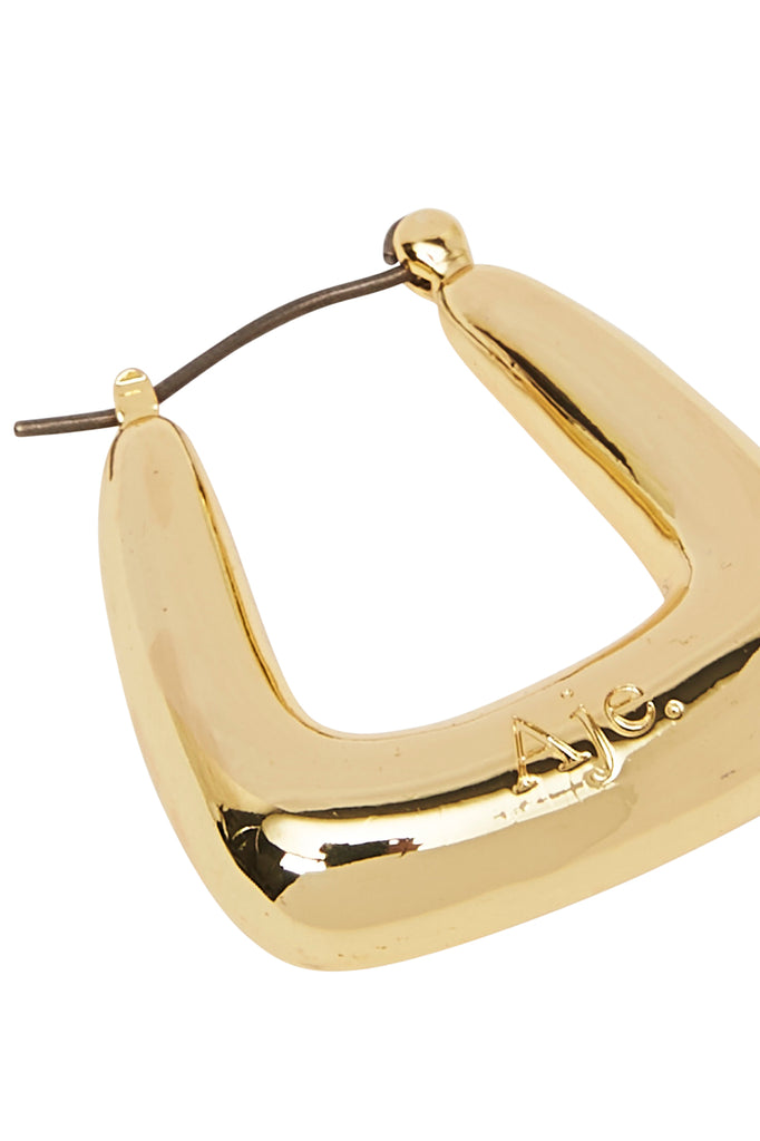 The Mini Aje Square Hoops