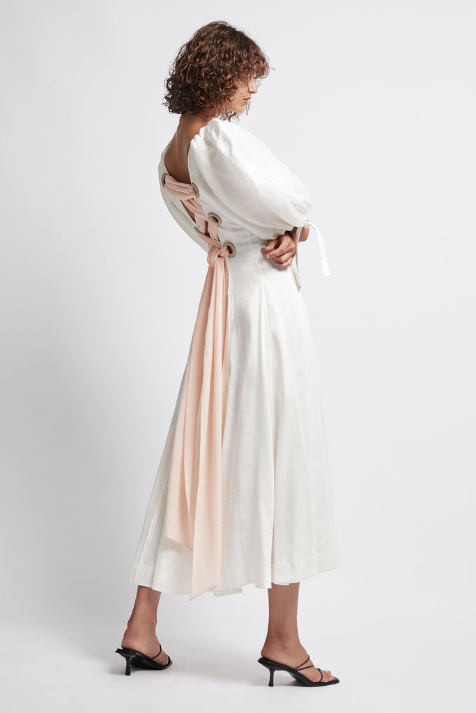 Overture Laced Ballet Midi Dress