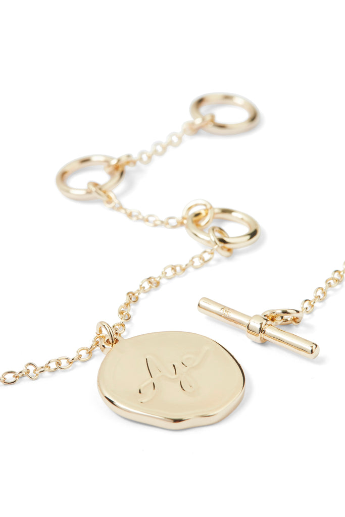 Aje Logo Disc Necklace