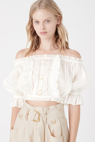 Salt Lake Peasant Crop Blouse