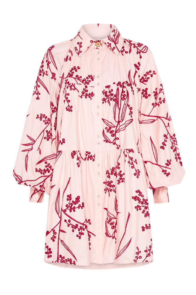 Mimosa Broderie Smock Dress
