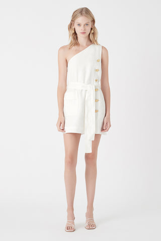 Salt Lake Asymmetric Belted Dress