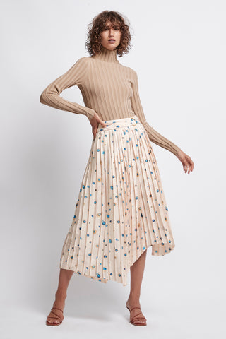 Overture Pleat Ring Midi Skirt