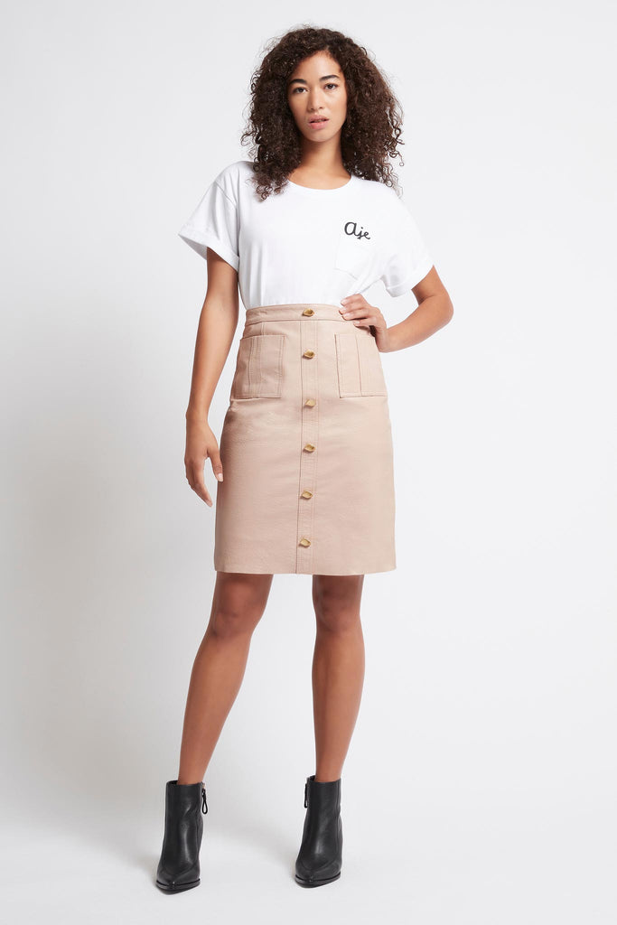 Liberation Leather Midi Skirt