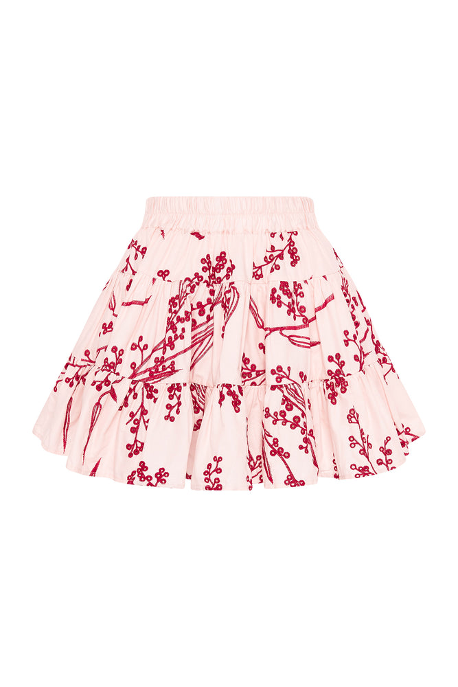 Salt Lake Broderie Frill Mini Skirt