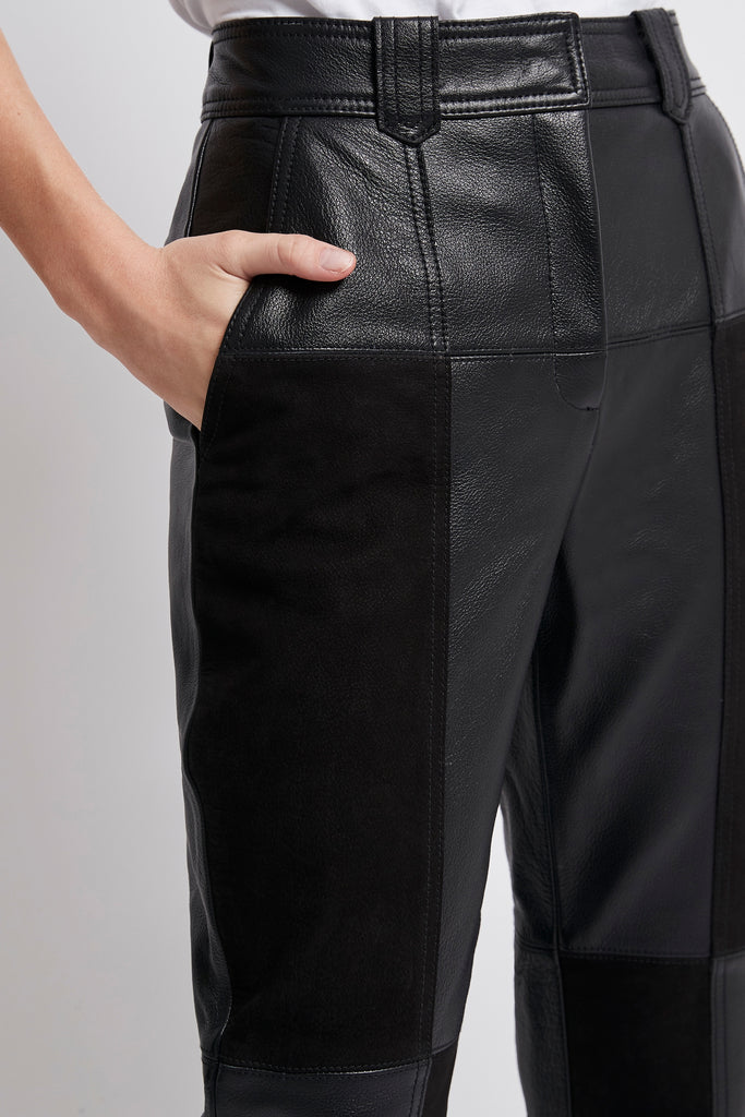 Motocyclette Leather Patch Trouser