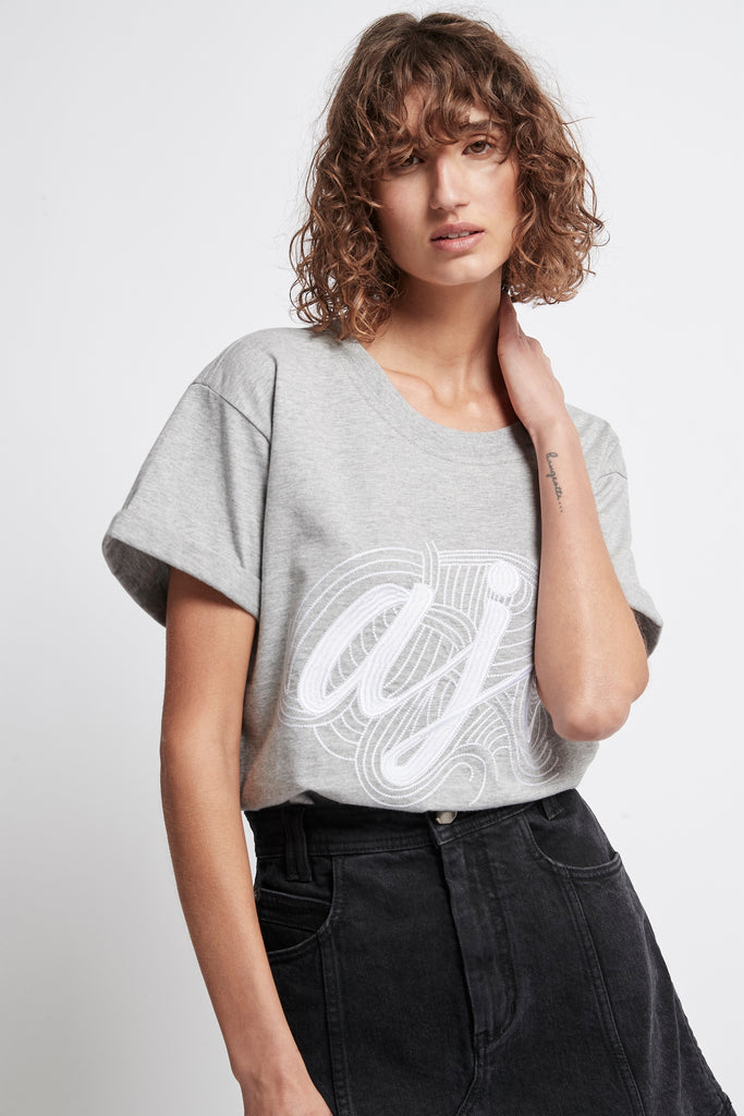 Rebellion Stitched Logo Tee