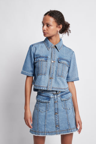 Allegro Cropped Denim Shirt