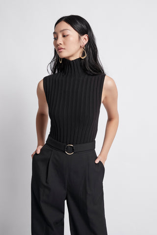 Overture Ribbed Sleeveless Turtleneck