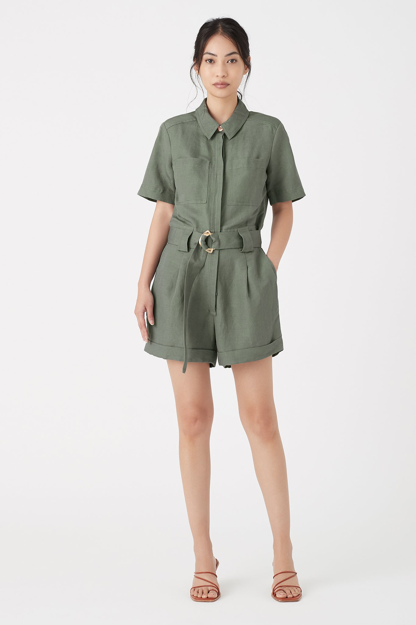 Paperbark Belted Playsuit Outfit View