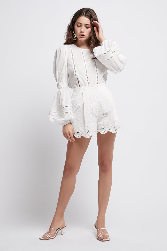 Silvatica Lace Panelled Blouse