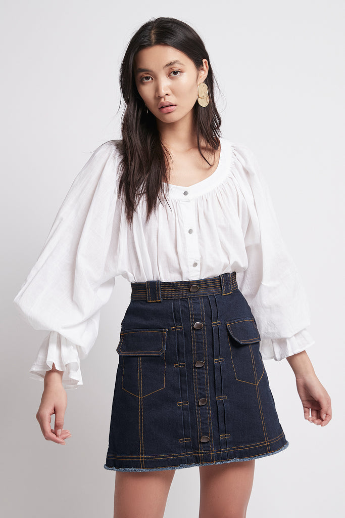 Tori Denim Skirt