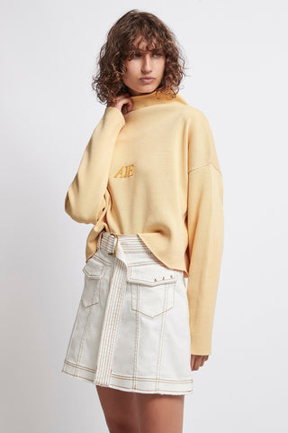 Overture Crepe Knit Crop Top