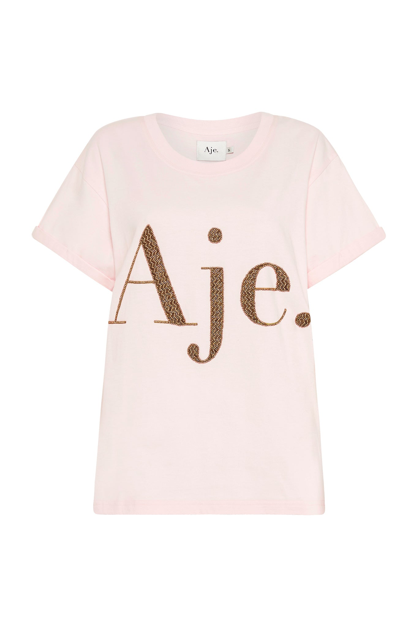 Aje Metallic Logo Tee Product View