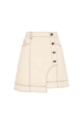 Silvatica Buttoned Denim Mini Skirt