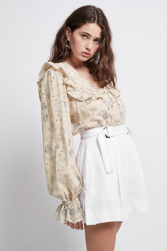 Armeria Broderie Frill Blouse