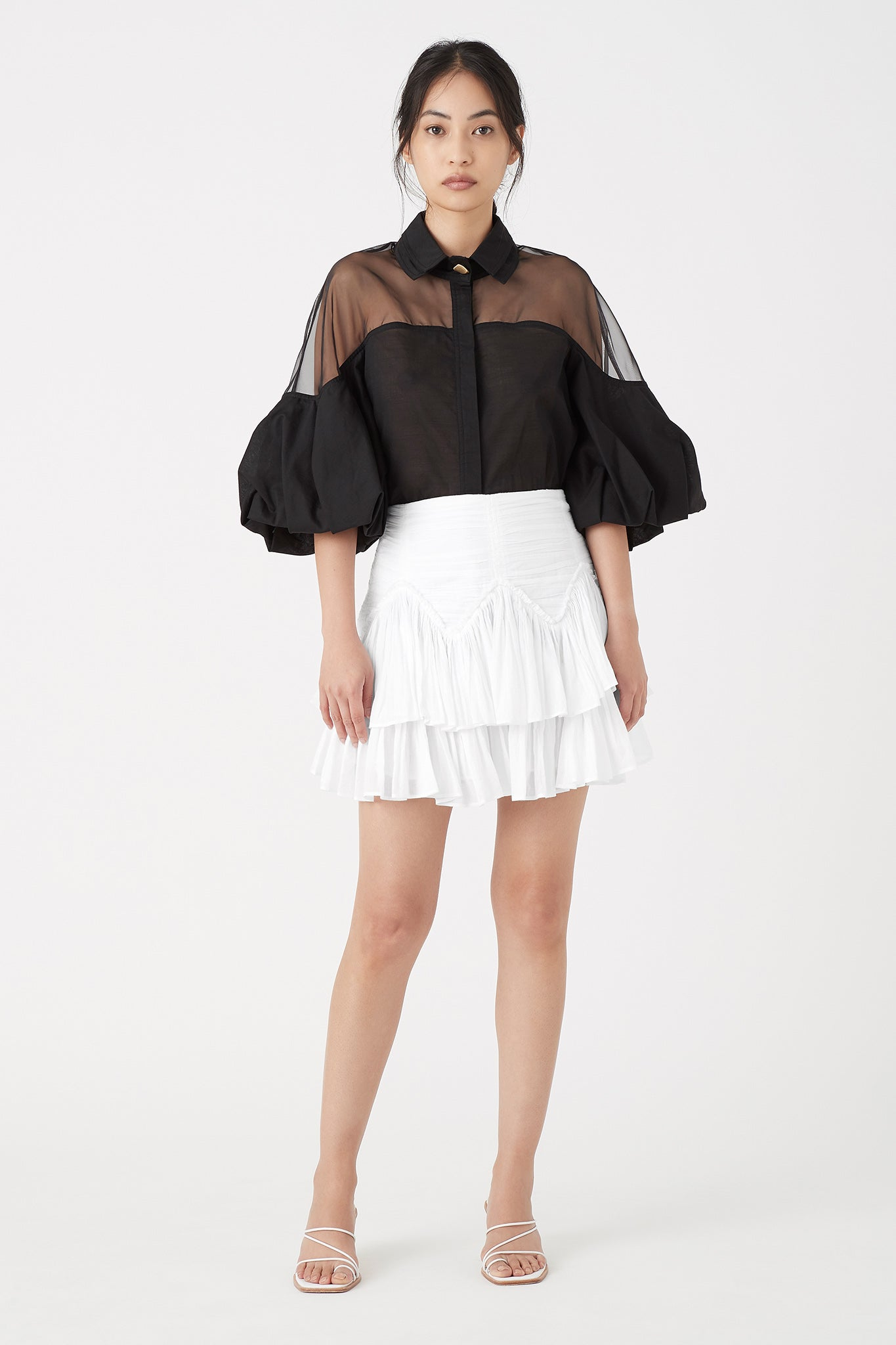 Banksia Frill Mini Skirt Outfit View