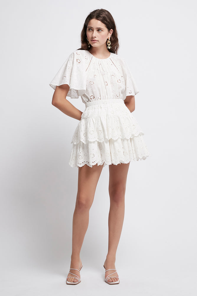 Silvatica Broderie Frill Mini Skirt