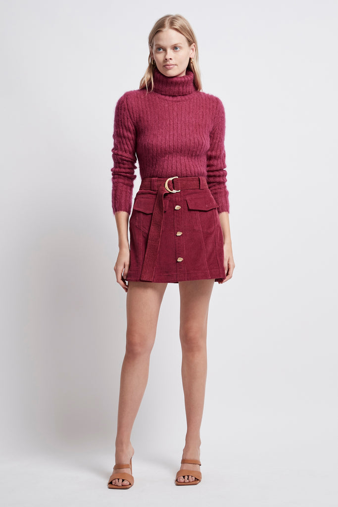 Rebellion Corduroy Mini Skirt