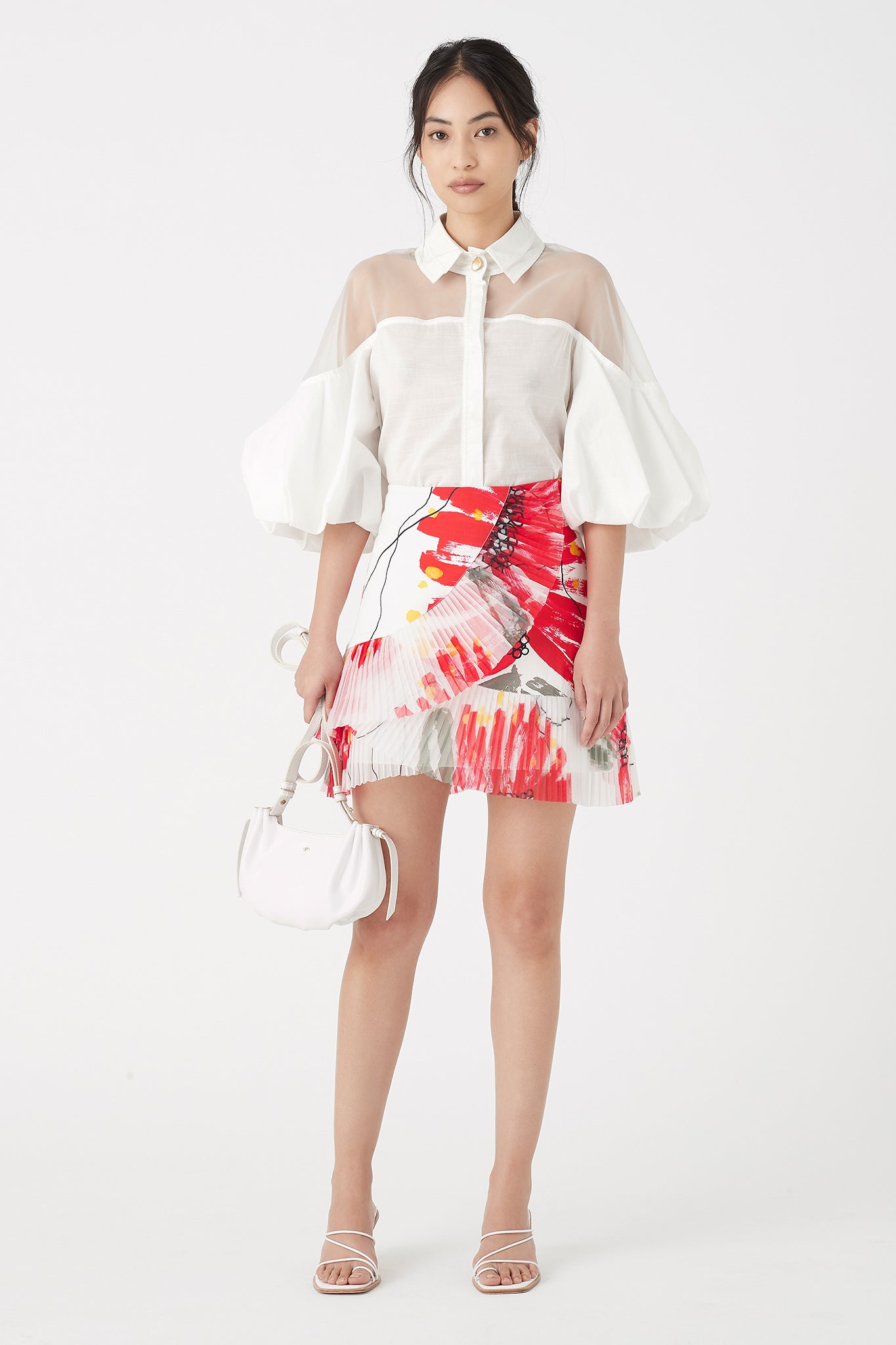Banksia Pleat Mini Skirt Outfit View