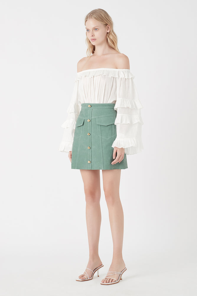 Eucalypt Mira Leather Mini Skirt