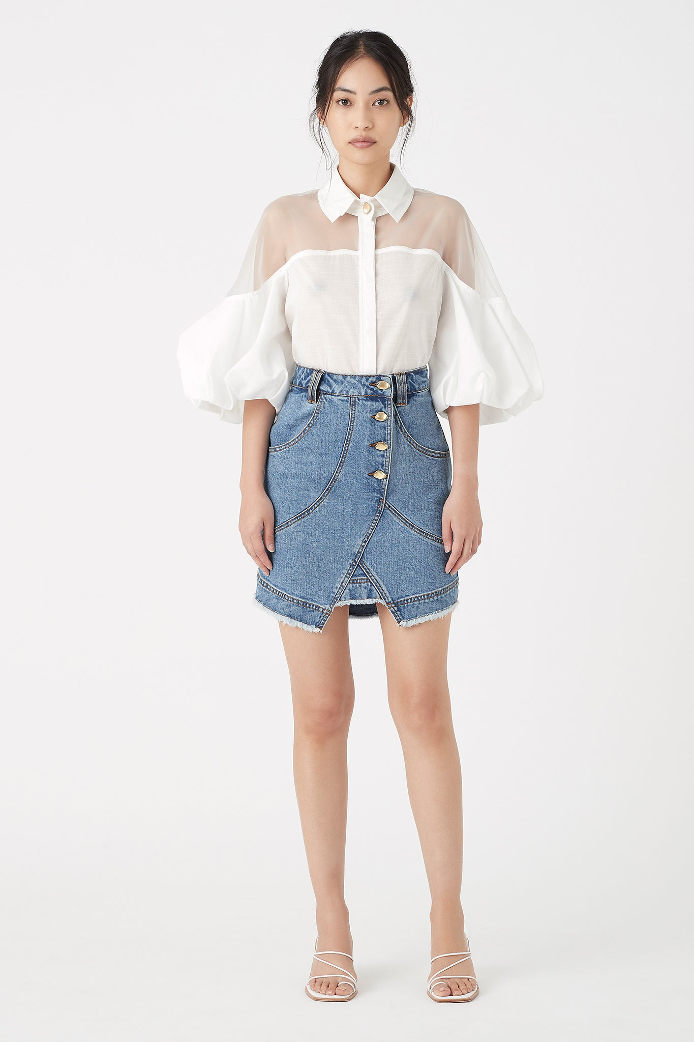 Paperbark Denim Shell Skirt Outfit View