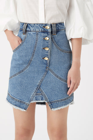 Paperbark Denim Shell Skirt