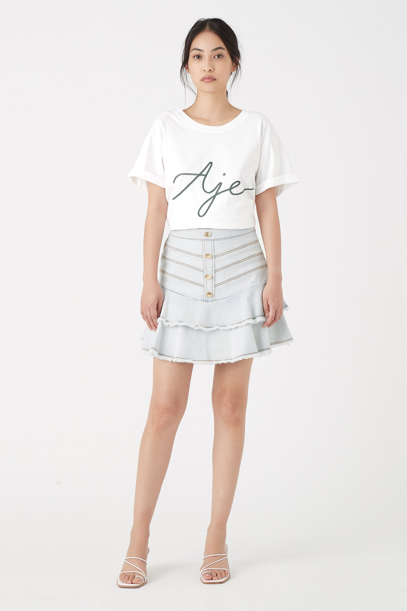 Rivero Denim Skirt Outfit View