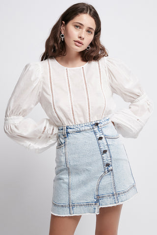 Silvatica Acid Denim Mini Skirt