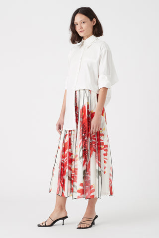 Banksia Strip Midi Skirt