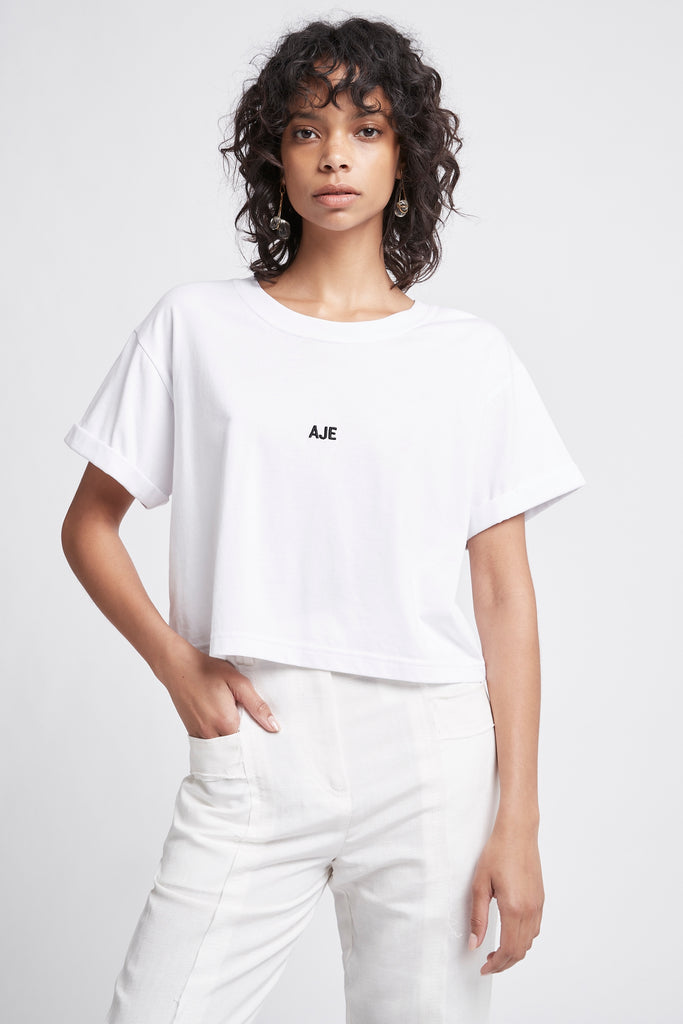 Rebellion Mini Logo Cropped Tee