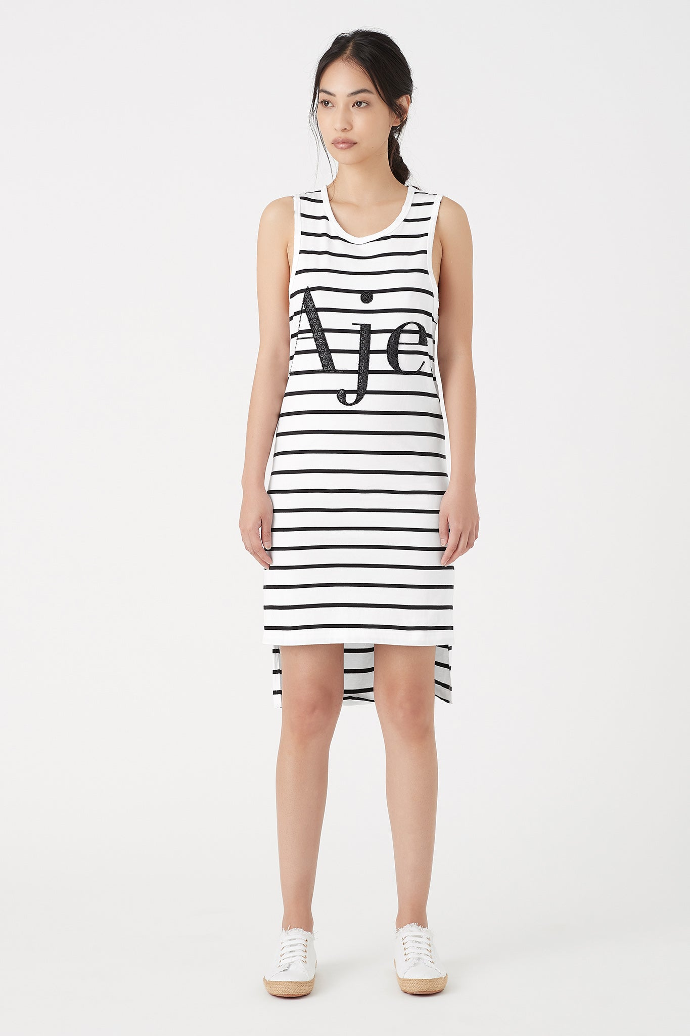 Mimosa Stripe Logo Tank Dress Outfit View