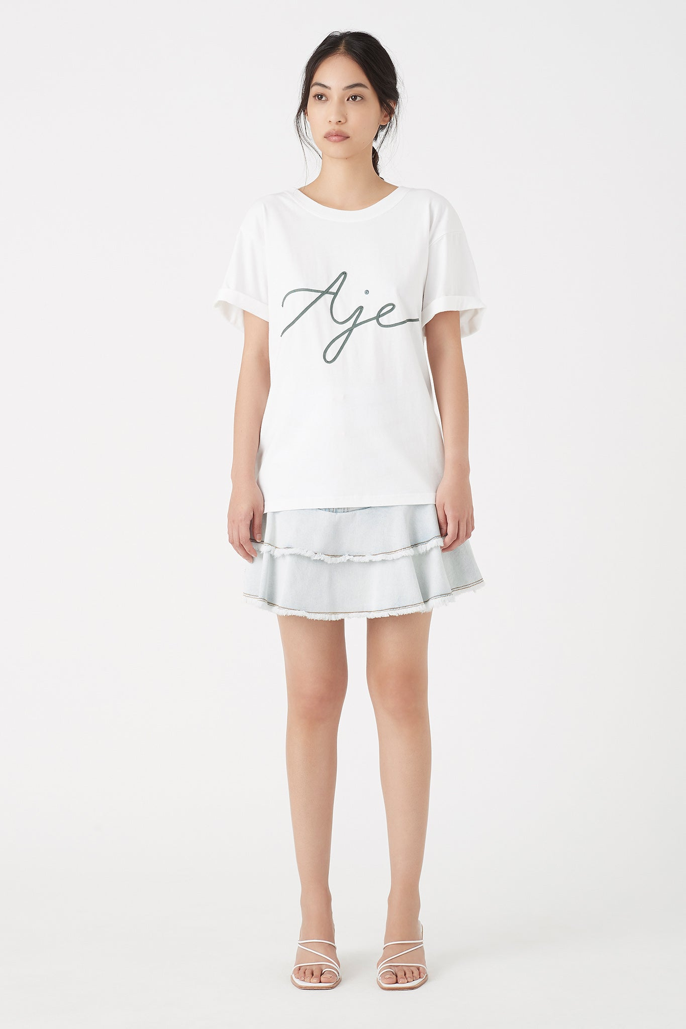 Aje Ribbon Tee Outfit View