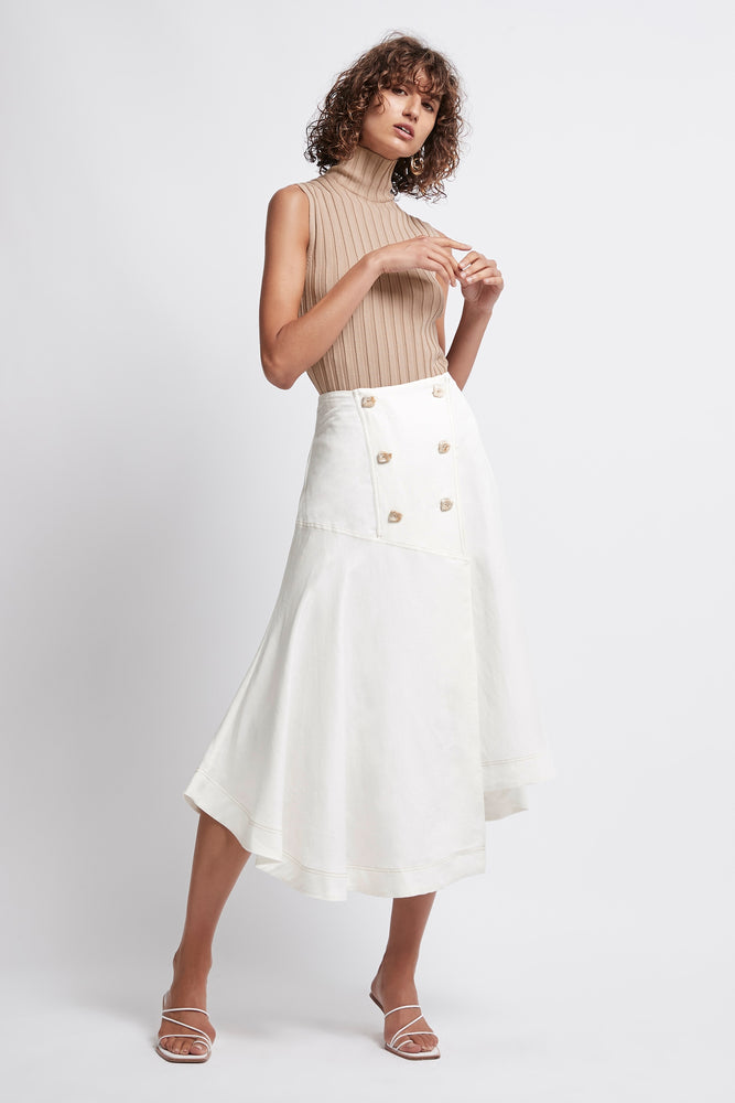 Overture Buttoned Midi Skirt
