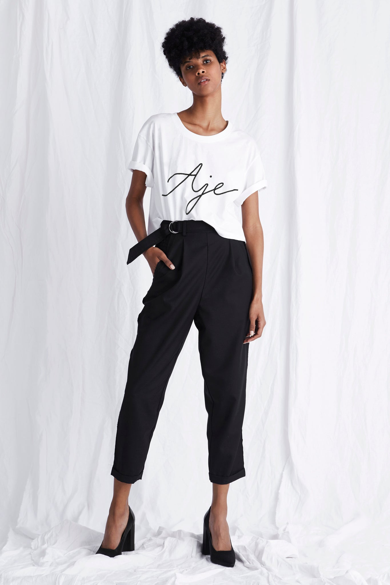Billie Crop Tee Outfit View