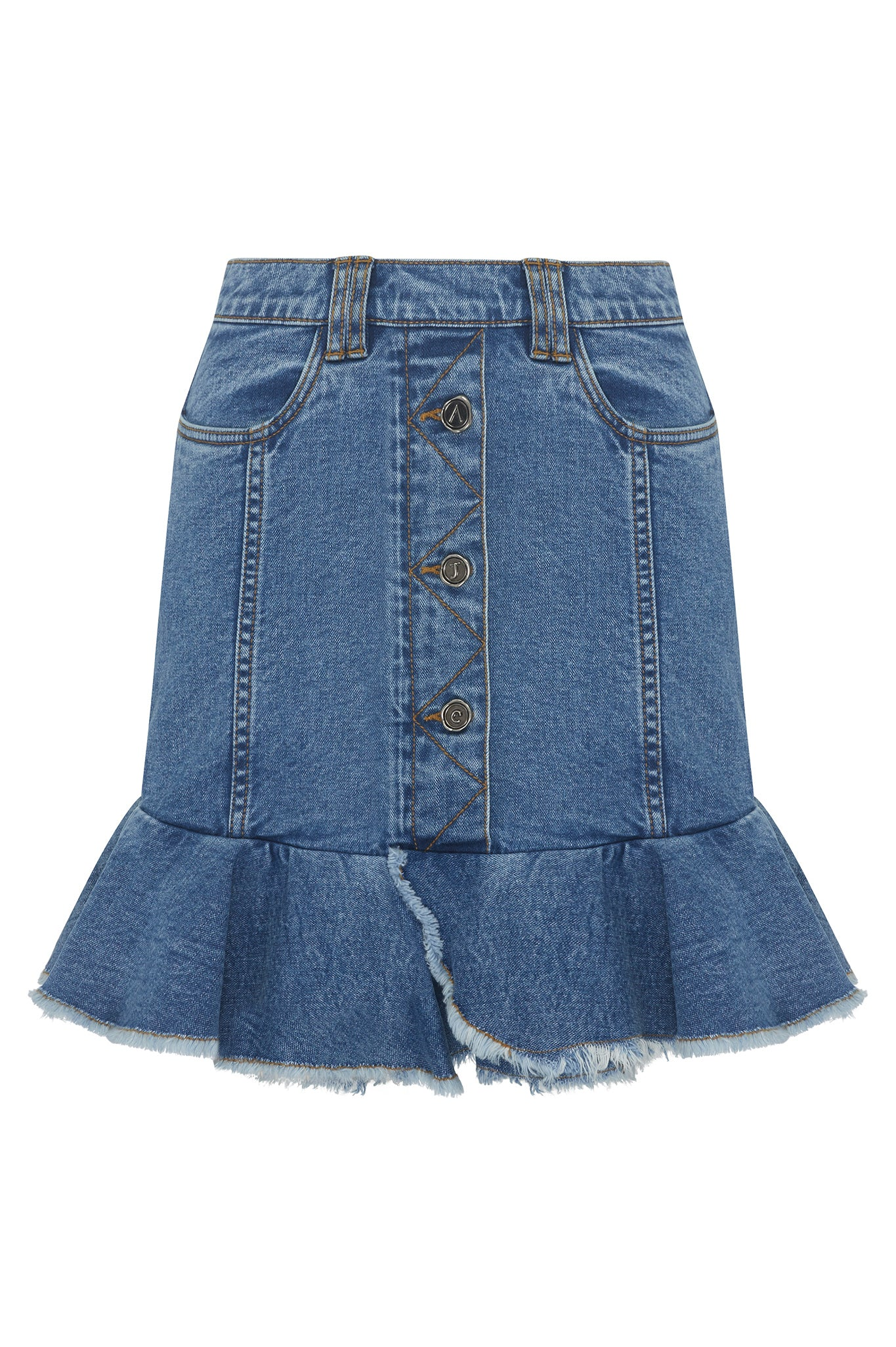 Saltwater Denim Mini Skirt Product View