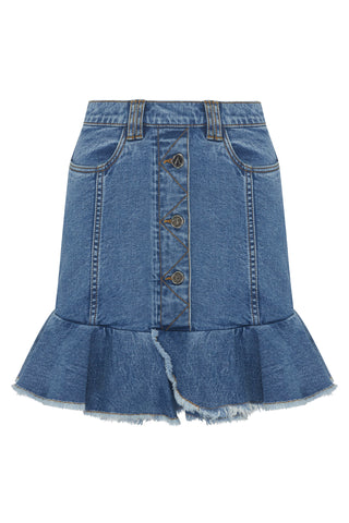 Saltwater Denim Mini Skirt