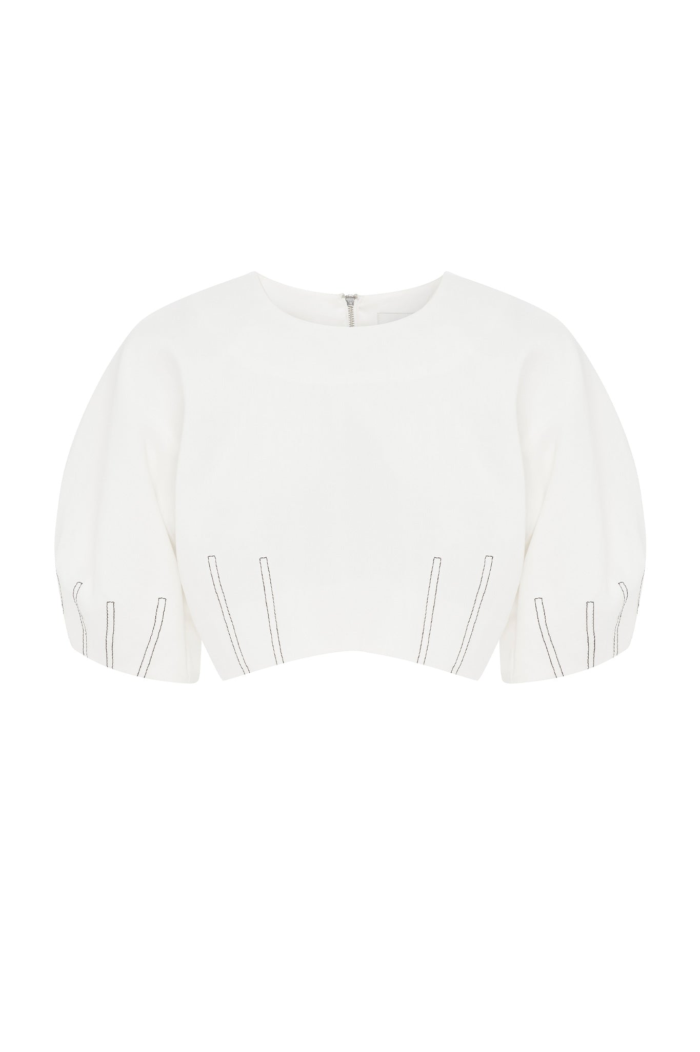 Shell Cropped Blouse Product View